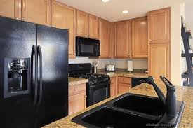 Black Appliances Kitchen Ideas Oak Cabinets Black Appliances Black Sink Not Sure I The