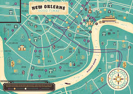 New Orleans French Quarter Map by Herb Lester New Orleans Map On Behance
