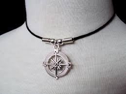 mens necklace stores images Compass choker compass necklace nautical jewelry gift for jpg