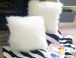 create diy faux fur ottoman and pillow u2013 what hopes u0026 dreams are