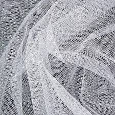glitter tulle polyester glitter tulle glitter white fabric by the yard ny