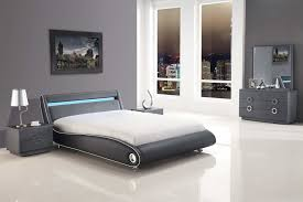 futuristic beds bedroom modern bedroom design with gray bed frame and bedside