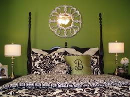 bedroom moroccan bedroom with green walls also damask bedding