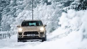 porsche snow 2017 porsche macan s uk spec in snow front hd wallpaper 25
