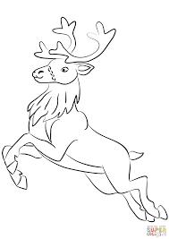 santa claus u0027s reindeer coloring page free printable coloring pages