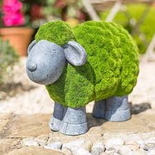 la hacienda flocked sheep garden ornament on sale fast delivery
