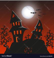 halloween background vector haunted monster house halloween background vector image