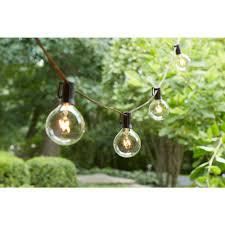 how to string cafe lights hton bay 12 light large cafe clear string lights l0012001cu01