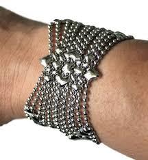 fashion bracelet metal images Bracelets liquid metal mesh cuff sergio gutierrez sg jpg