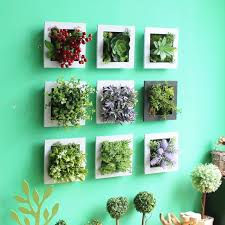 fake flowers for home decor new design 3d metope succulent plants imitation plastic photo