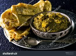 indian traditional tasty palak paneer tandori stock photo