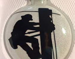 electrician ornament etsy