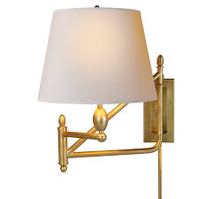 Swing Arm Sconce Lighting Industrial Inspired Ball Pivot Swing Arm Sconce Shades Of Light