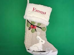 Pottery Barn Kids Stockings Pottery Barn Kids New Woodland Bunny Christmas Stocking Emma Flaw
