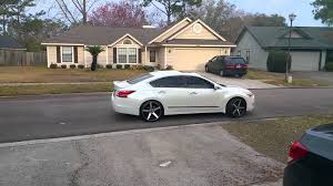 nissan altima 2013 silver 2015 altima on offset 20s youtube