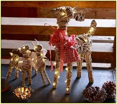 Outdoor Reindeer Decorations Light Up Reindeer Outdoor Decoration Home Design Ideas