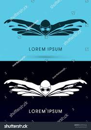 Swimming Logos Free by Swimming Butterfly Wave Water Swimming Pool Stock Vector 249074344