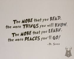 the more that you read dr seuss quote vinyl wall decal zoom