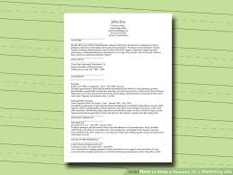 Write A Resume Online by How To Write A Resume For A Marketing Job 9 Steps With Pictures
