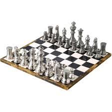 Chess Set Angelo Chess Set 34x34 Black White The One Furniture Dubai