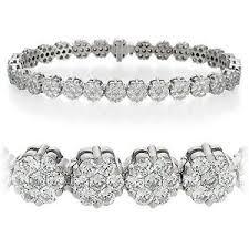 diamond flower bracelet images Flower bracelets expensive diamond flower bracelet 8 ct tw out=j