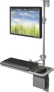 Monitor And Keyboard Wall Mount Amazon Com Balt Sit Stand Wall Mount Workstation With Single