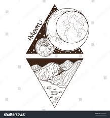 moon planets stars solar system symbols stock vector 550565860