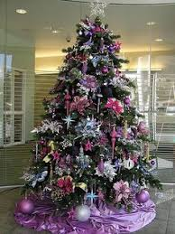 purple plum tree and decorations from next