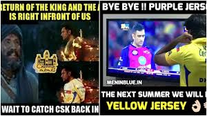 Comeback Memes - csk comeback 2018 memes csk meme s goes viral on yesterday final