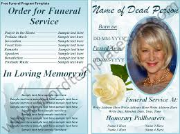 where to print funeral programs free print funeral brochures free funeral program template