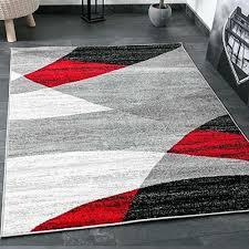tappeto moderno rosso tappeto moderno soggiorno tappeto disegno geometrico erica in