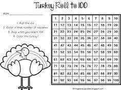 free thanksgiving math center turkey races thanksgiving