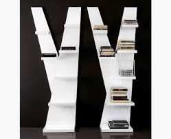 compar modern one bookshelf in choice of high gloss black or white