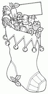 christmas stocking toys free printable coloring pages