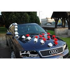 kit deco voiture mariage décoration voiture mariage magnifique avec des roses et perles