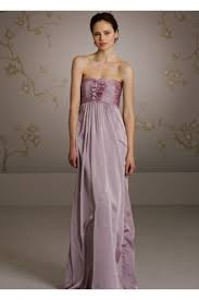 strapless sweetheart lilac chiffon long wedding guest bridesmaid