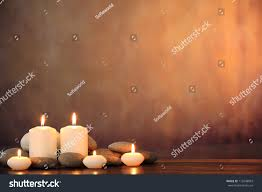On Table by Zen Stones Aromatic Candles On Tablezen Stock Photo 113248093