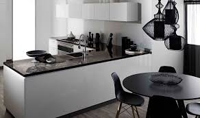 White Formica Kitchen Cabinets Grey Theme Silver Mosaic Splashback Tiles White Cupboards And