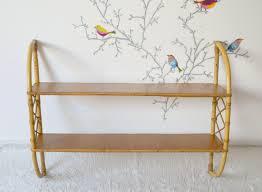 Etagere Vintage Scandinave étagère En Rotin Et Bois Décor Scandinave Vintage Shelf Vintage