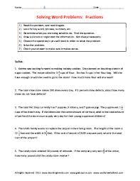fraction story problem worksheets worksheetsdirect com