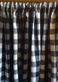 Checkered Shower Curtain Black And White by 1