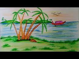 beautiful drawings of nature youtube