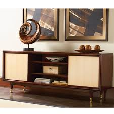 mid century modern media cabinet furniture wooden mid century consoles having four top drawer and