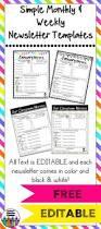 free editable newsletter template u2026 pinteres u2026