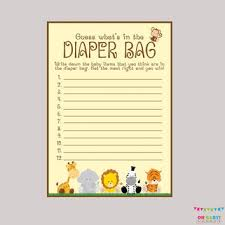 what s in the bag baby shower boy guess what 39 s in the bag from ohbabyshower on