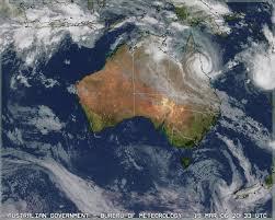 australia satellite map tropical cyclone larry
