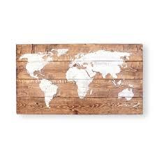 Travel Decor World Map Push Pin Wood Wall Art Gift For Men 5th