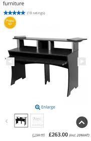 Second Hand Work Bench Second Hand Glorious Workbench Studio Desk Black In Tower