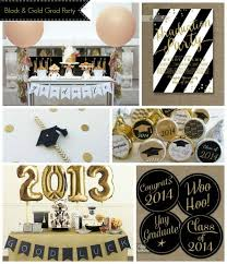 black and gold graduation party grad parties gold and