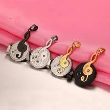 s day pendants necklace titanium steel pendant fashion melody ornaments